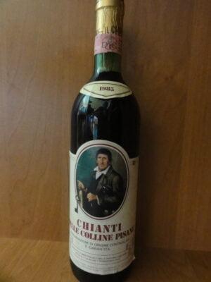 obrázek Archivní červené víno Chianti Itálie 1985