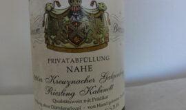 Archivní bílé víno Riesling Nahe Německo 1991