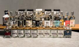 Sbírka lahví ginů Žufánek (OMFG, Bugsys, atd)