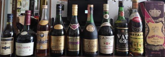 obrázek Kolekce cognac lahví
