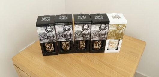 obrázek Bugsys gin DNA Vol 2 az vol 5 plus 25y Prodám Gin vyrobený pro pražský Bugsys bar